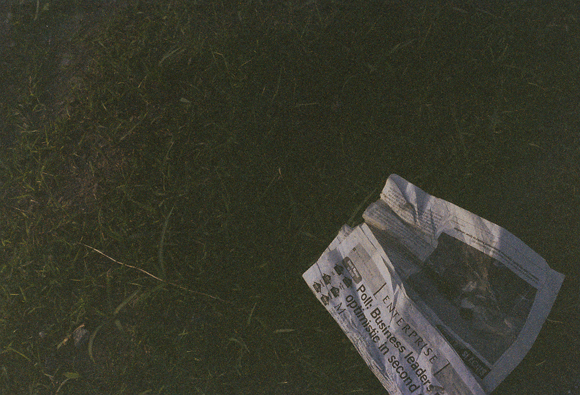 Newspaper on the floor