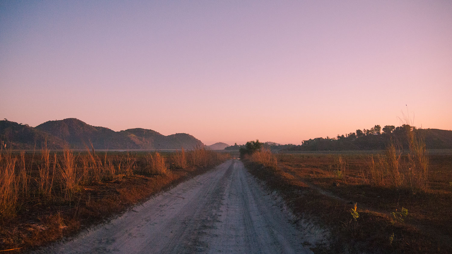 Sunrise on our way to Mount Pinatubo