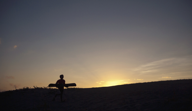 Silhouette of boys playing