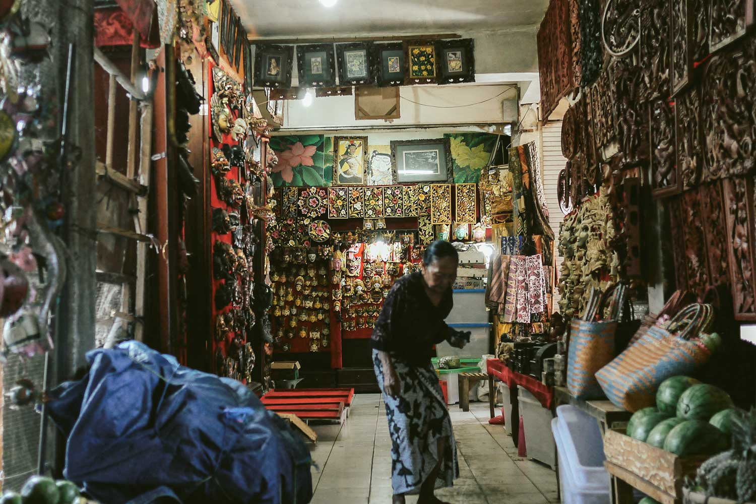 Woman in her shop