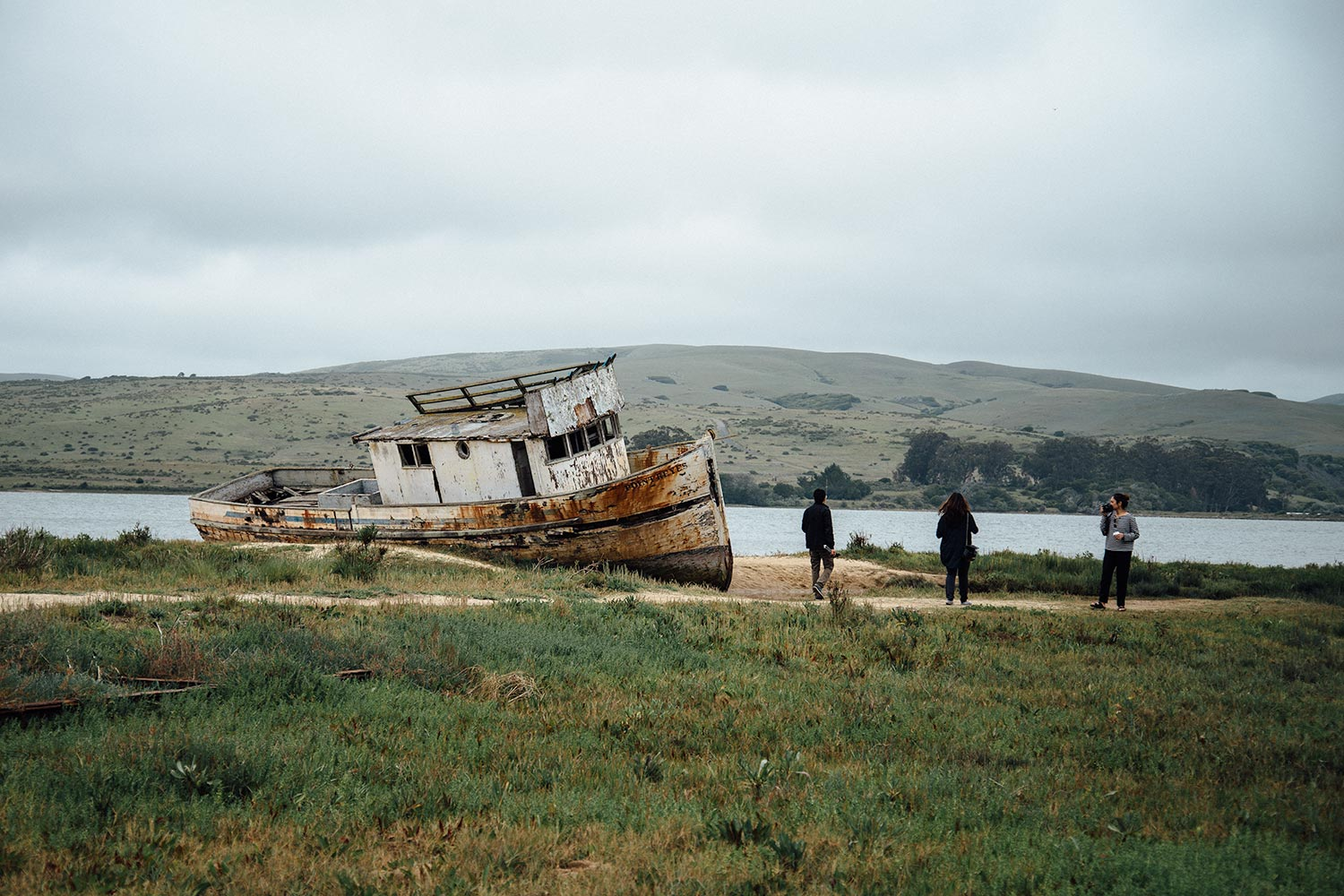 Old, abandoned ship