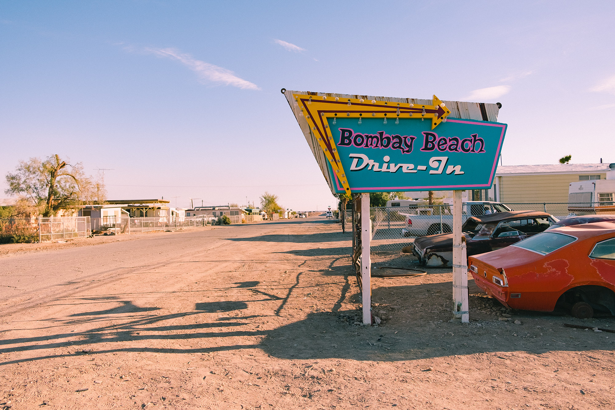 bombay beach sign