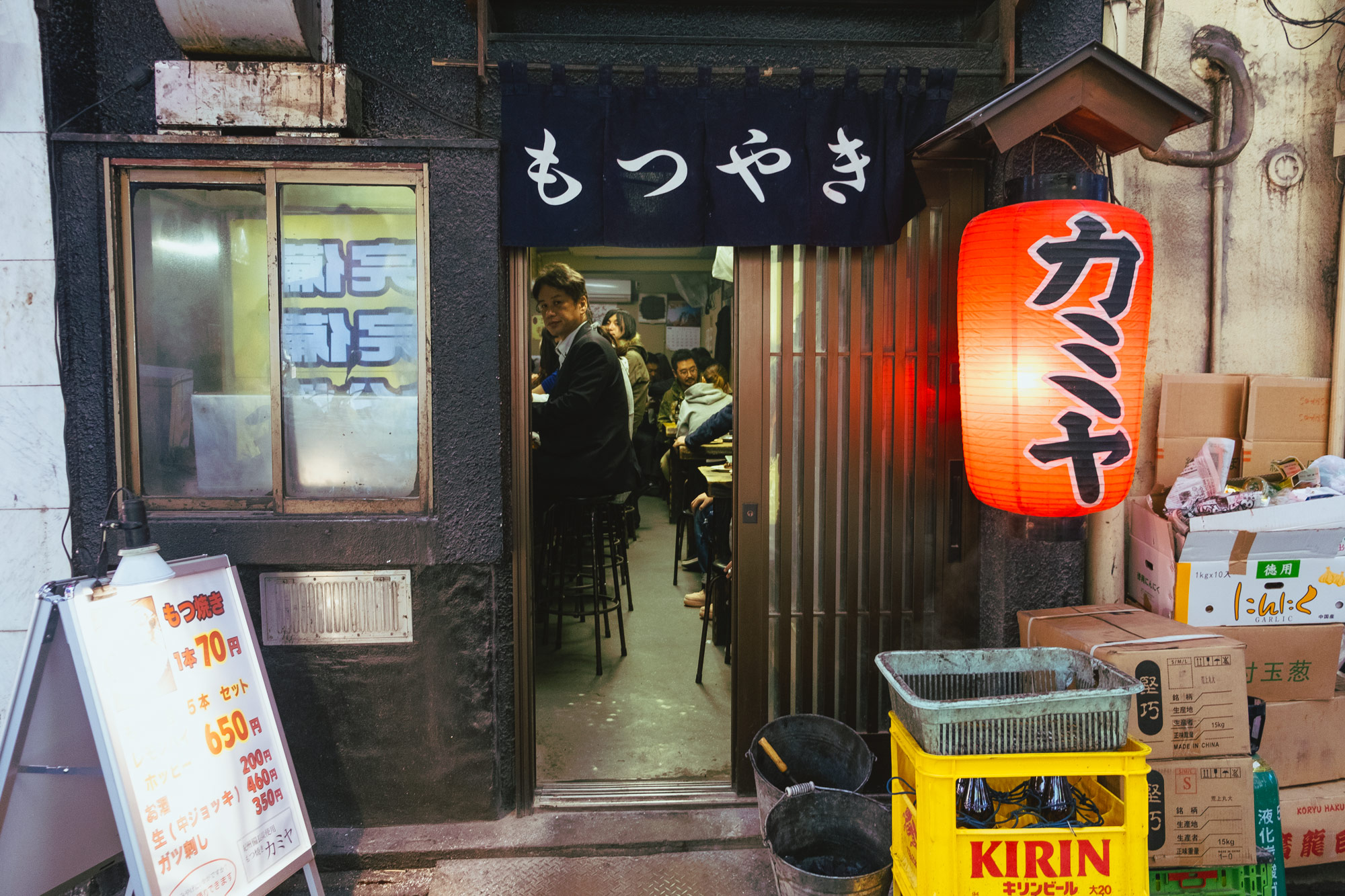 Curiously peeking inside a yakiniku restaurant