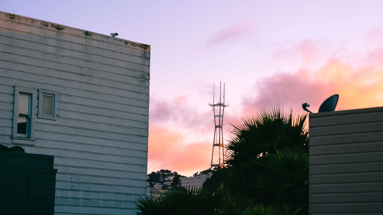Sutro tower can be seen from our window